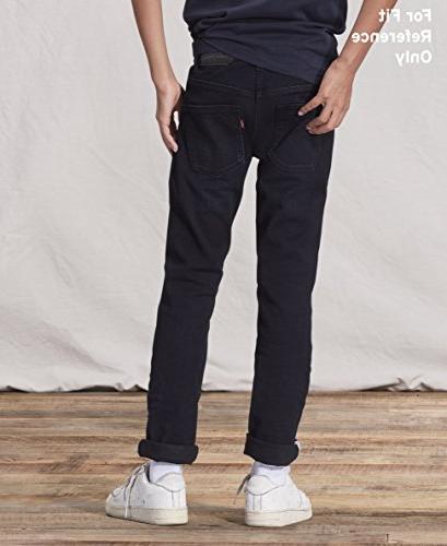 Levi's Boys' Slim Performance Jeans, Evans Blue, 14