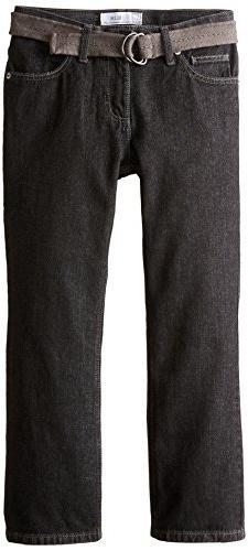 Lee Big Boys' Husky Dungarees Belted Slim Straight Leg Jeans