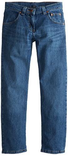 Lee Big Boys' Premium Select Slim Fit Straight Leg Jeans, Gr