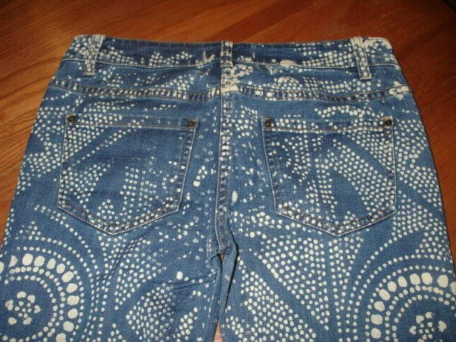 FREE PEOPLE BOHO DISCHARGE PRINT WASH BELL BOTTOMS