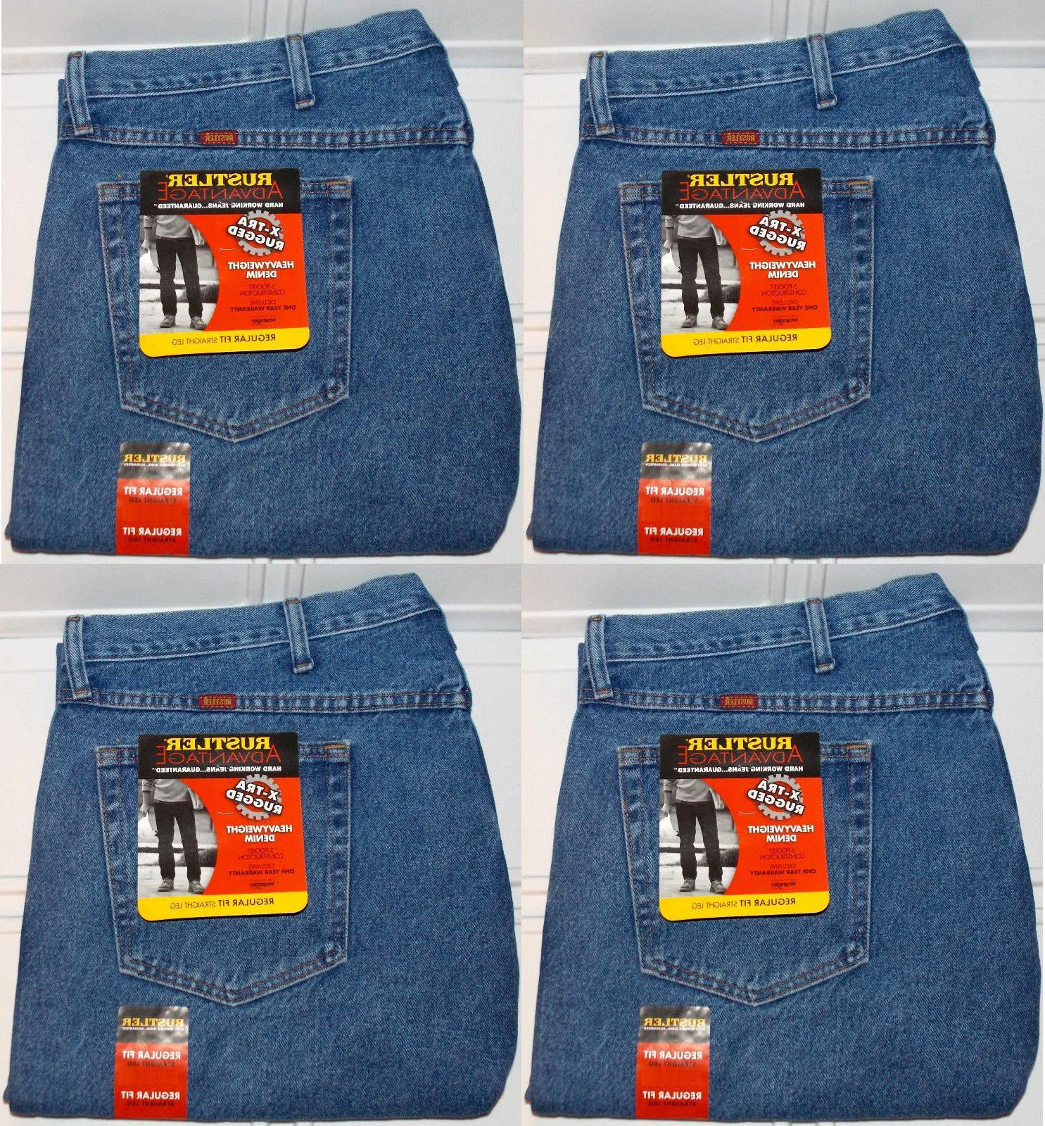 Rustler By Wrangler Men's Big & Tall Regular Fit Straight Le