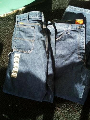 carpenter flame resistant blue jeans 38x32 excellent