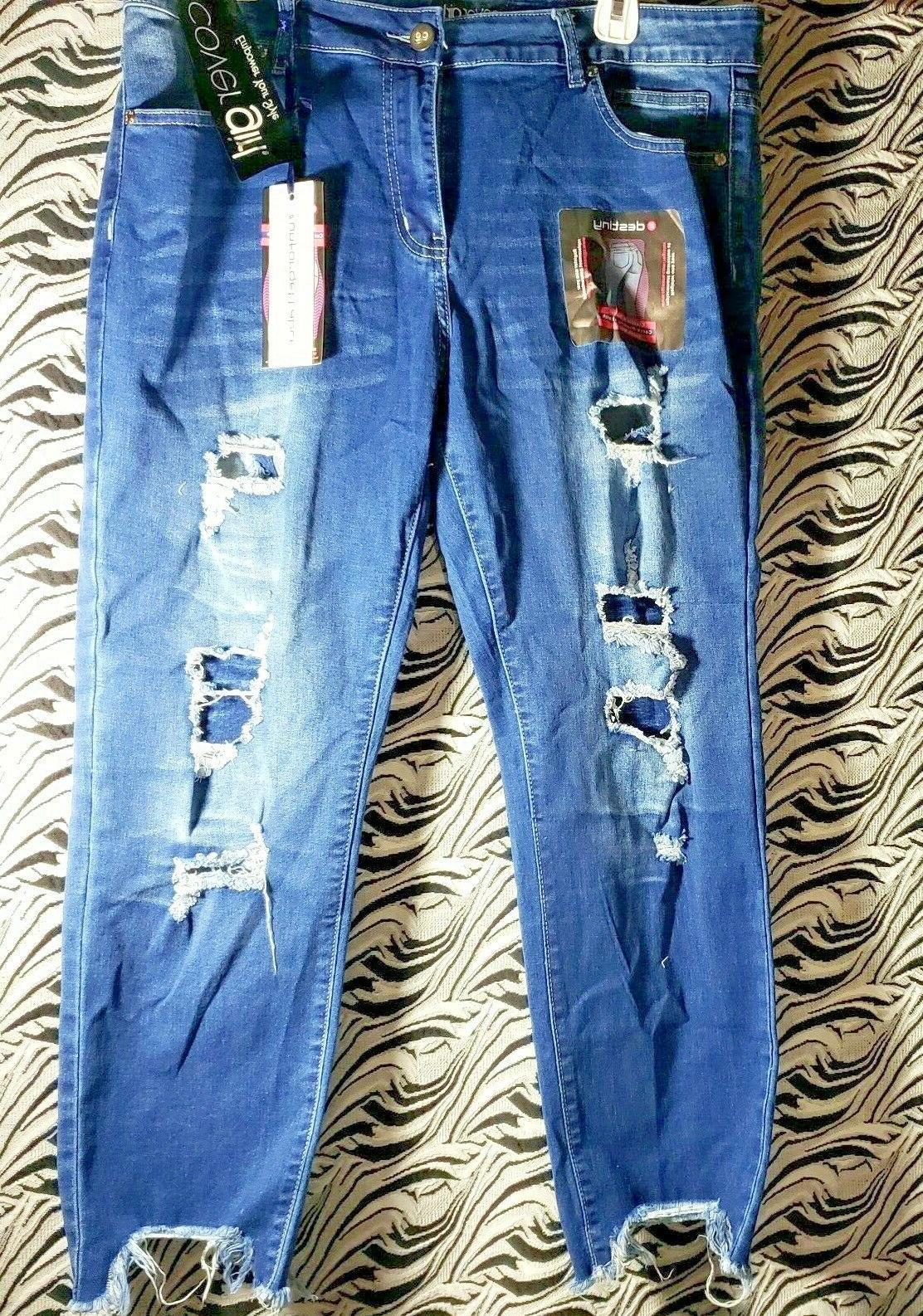 CG Jeans Patched Blue Plus Medium Wash Denim