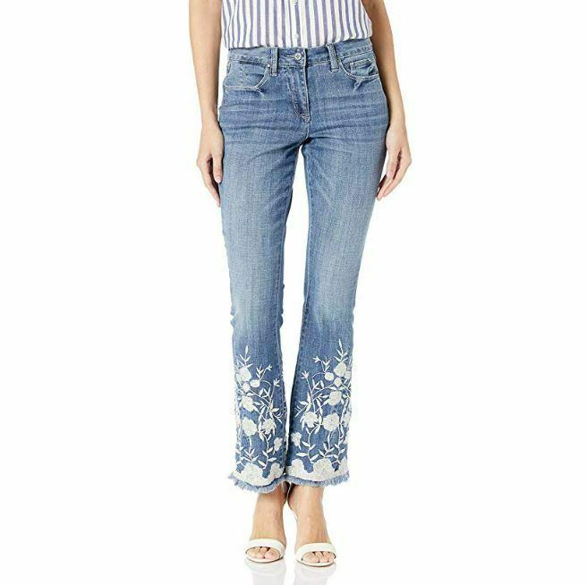 Laurie Classic Denim Embroidered