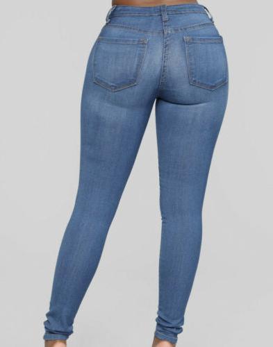 Waist Stretchy Skinny - Blue XL