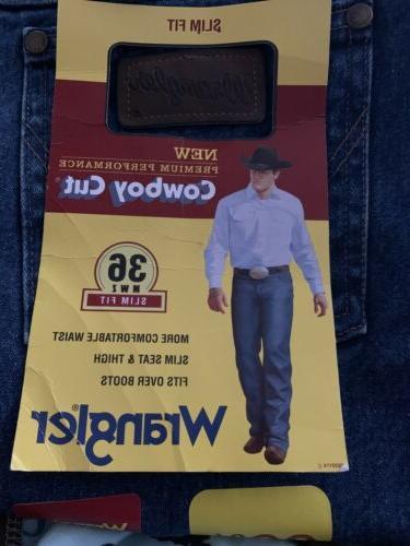 Wrangler Men's Big & Tall Slim Fit Cowboy Cut Jean, Prewashe