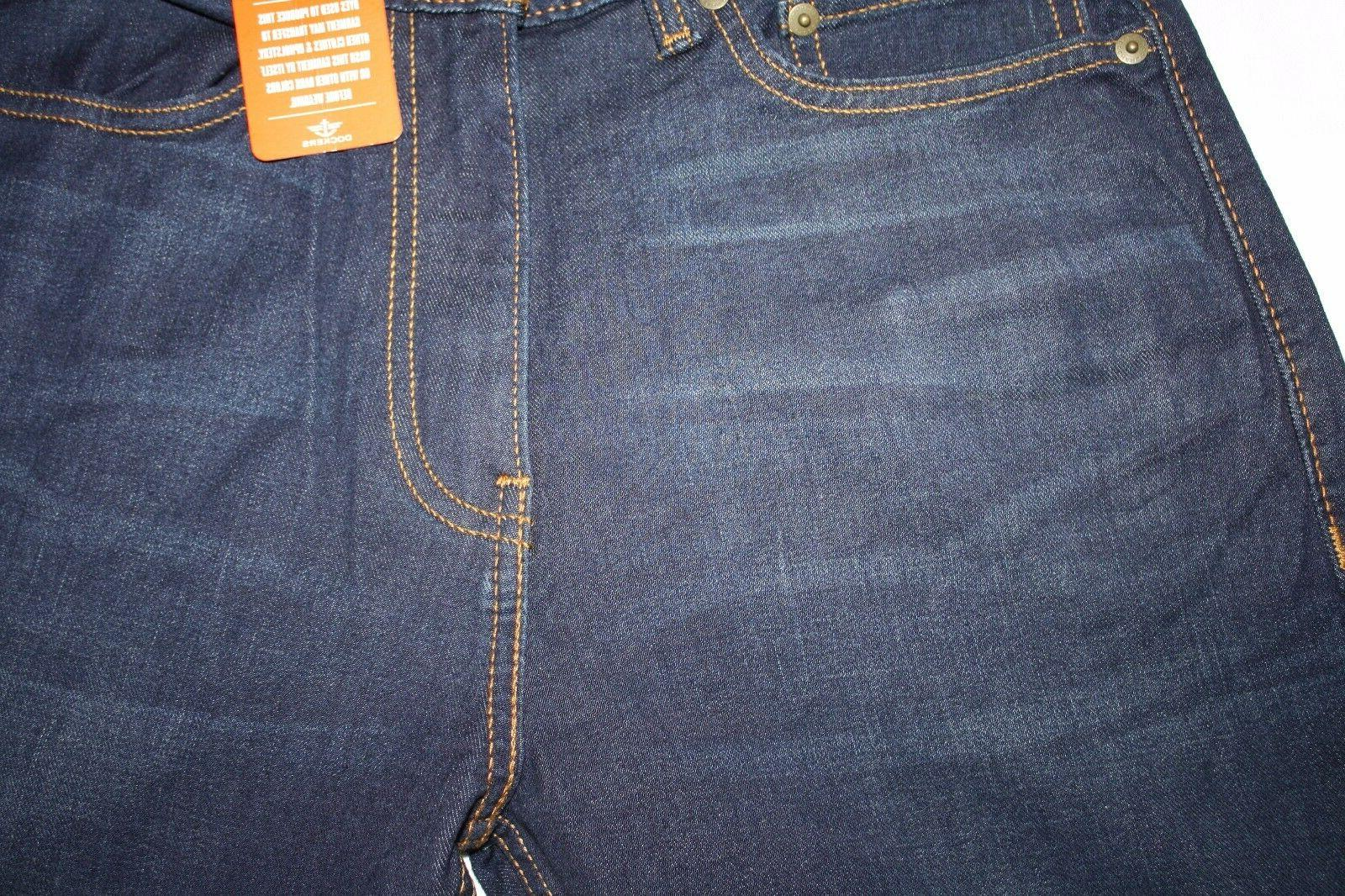 Distressed Straight Fit Blue Jeans, NWT