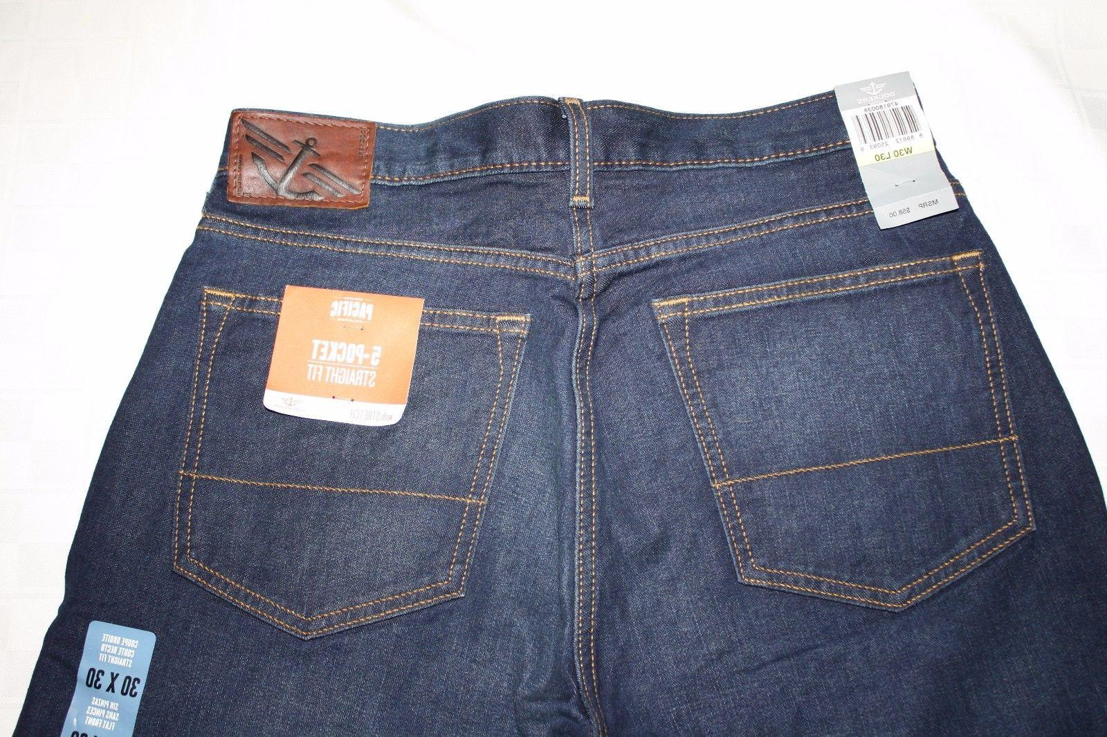 Distressed DOCKERS 5-Pocket Straight Fit Jeans,