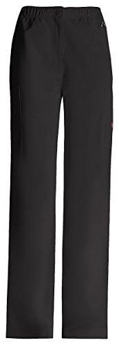 Dickies Men's Elastic Waist Zip Fly Pull-On Pant_Black_Large