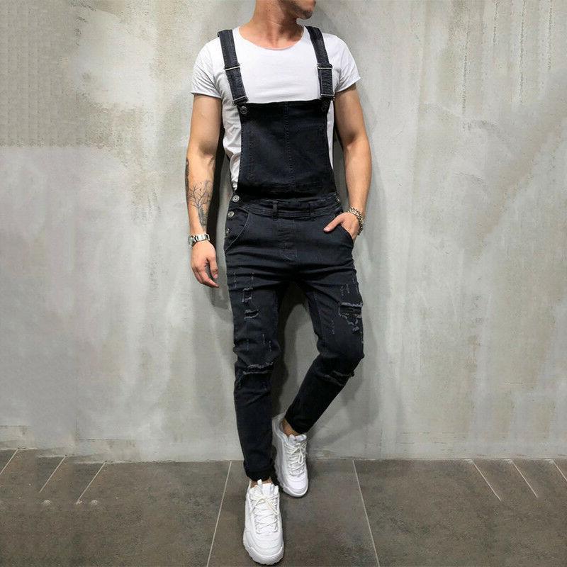 Fashion Denim Suspender Trousers Bib