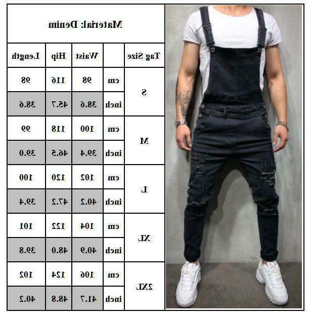 Fashion Denim Suspender Trousers Slim Bib Pants Skinny