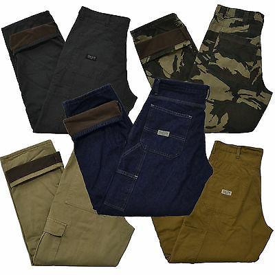 jeans fleece lined mens carpenter cargo camo