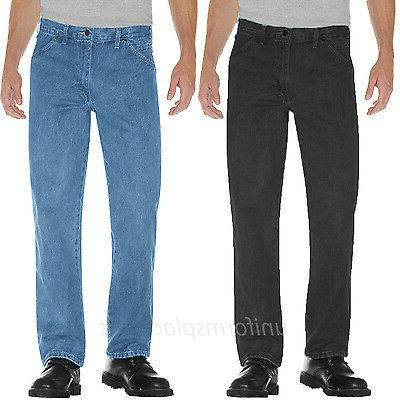 Dickies Jeans Men Regular Straight Fit 5-Pocket Denim Work J