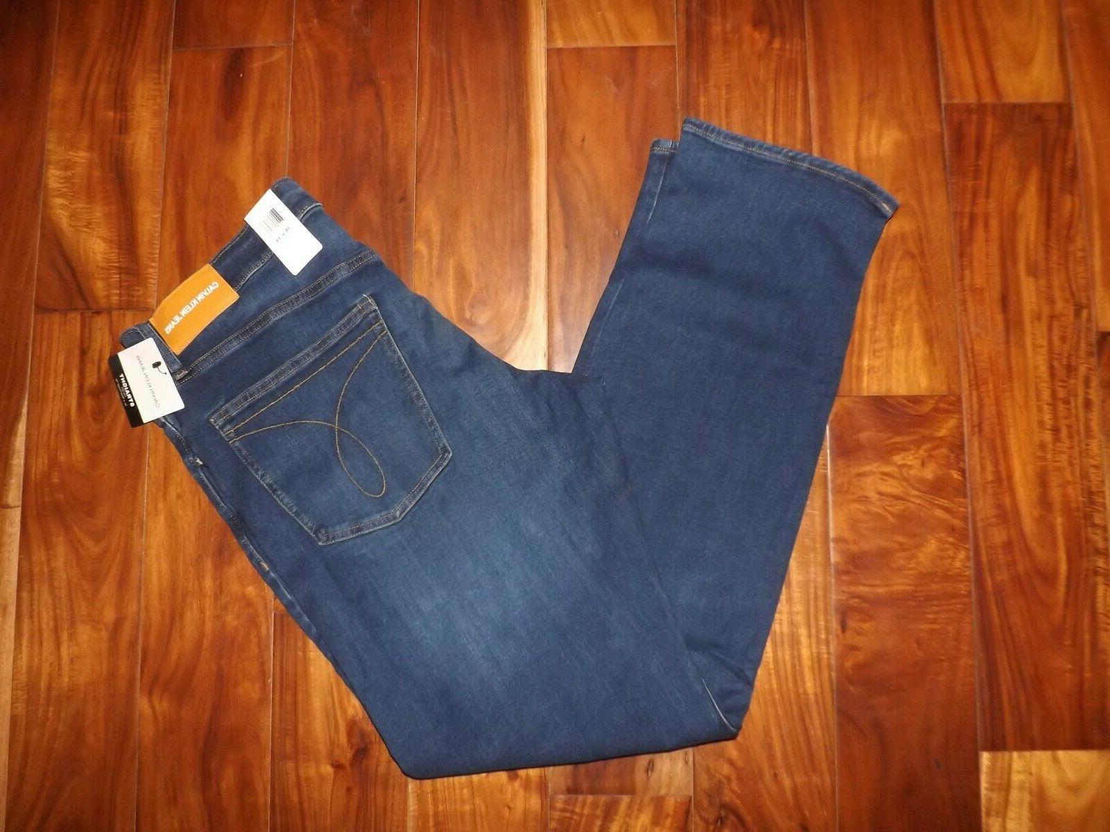 nwot men s jeans blue faded straight