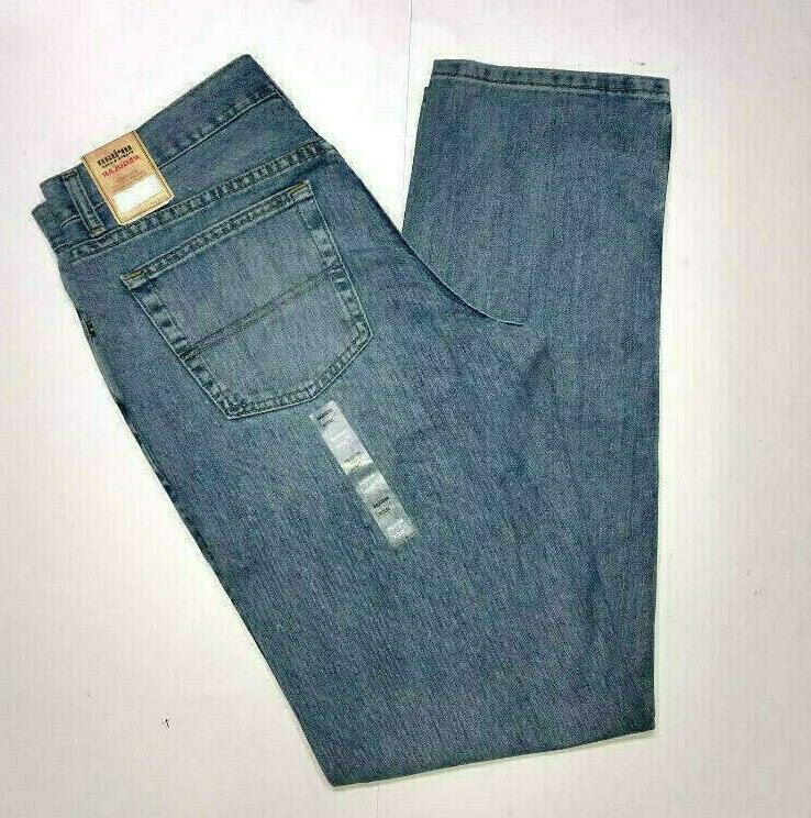 jeans regular fit blue straight leg 100