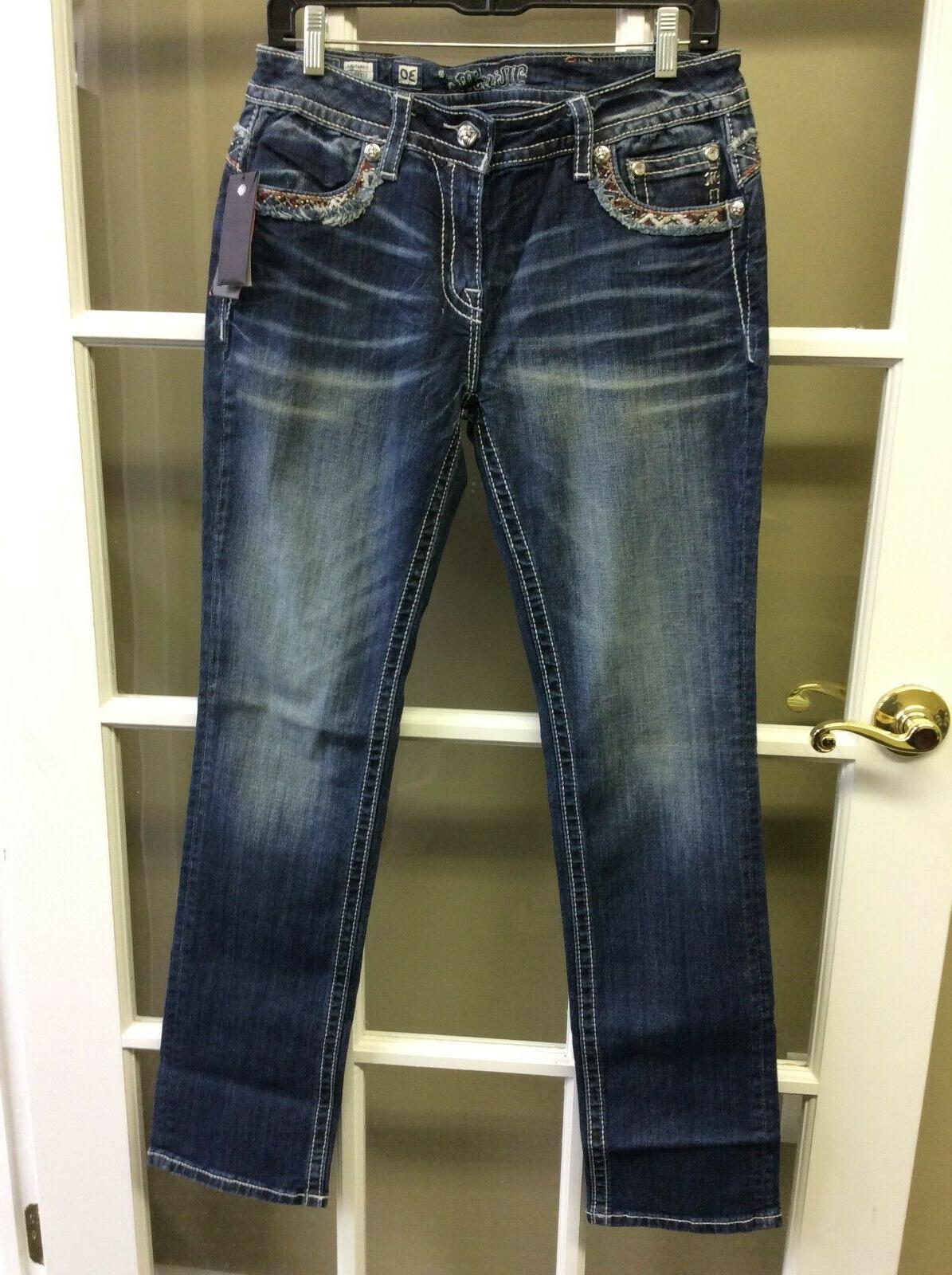 jeans signature straight size 30 new