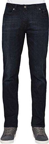 Calvin Klein Men's Slim Straight Pant, Osaka Blue, 32W x 32L