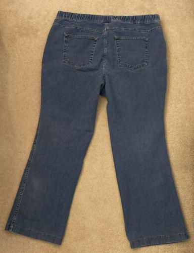 Hanes JMS Size Capris Blue Jeans Petite 18W-20W