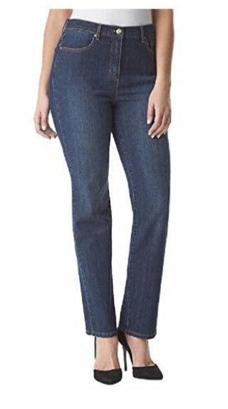 GLORIA Vanderbilt Ladies' Amanda Denim Jeans Latte Beige Sz