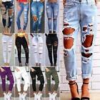 Women Destroyed Ripped Slim Denim Pants Boyfriend Jeans Trou