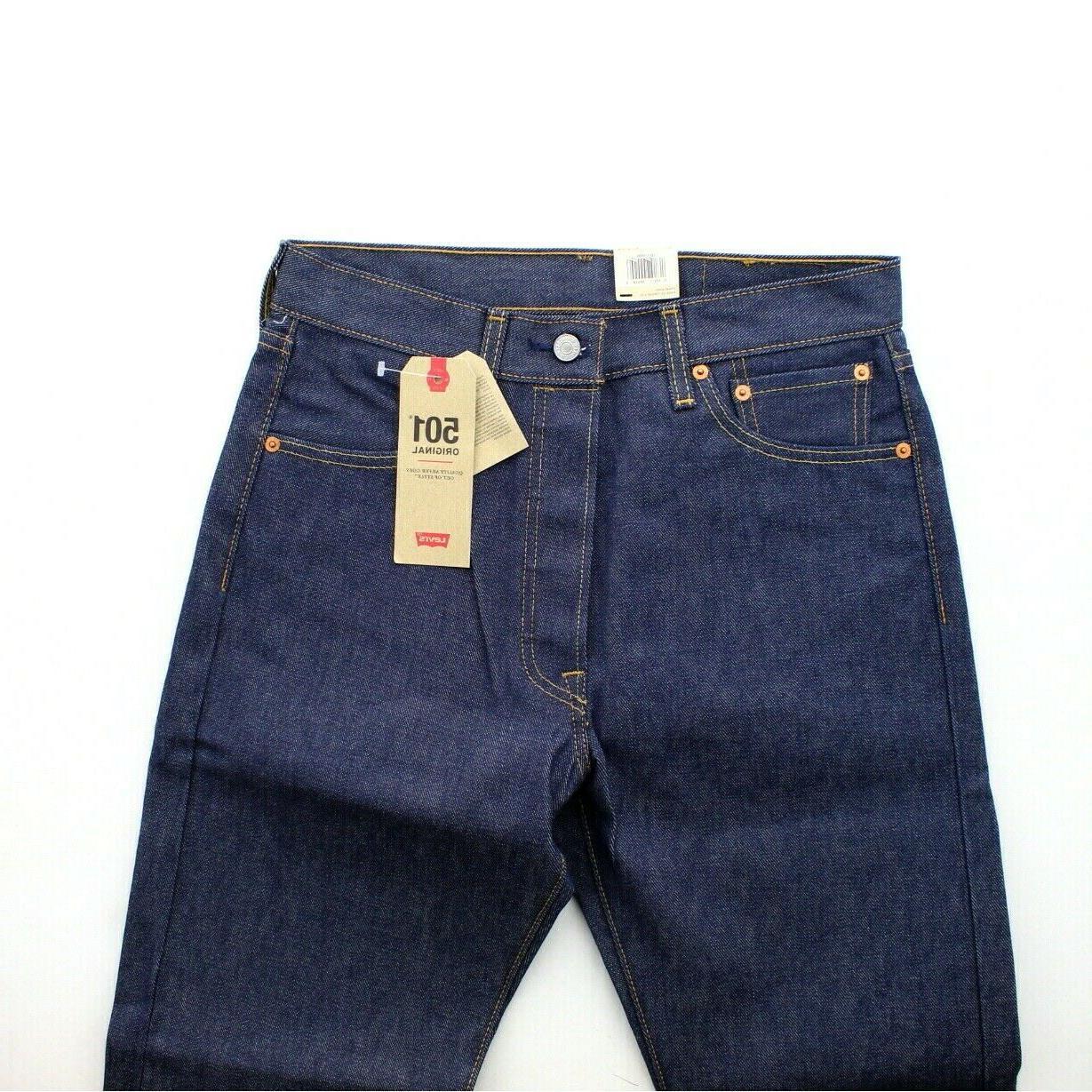 Levi's Jeans Shrink To Fit Leg Denim Jean, Rigid Indigo, $59