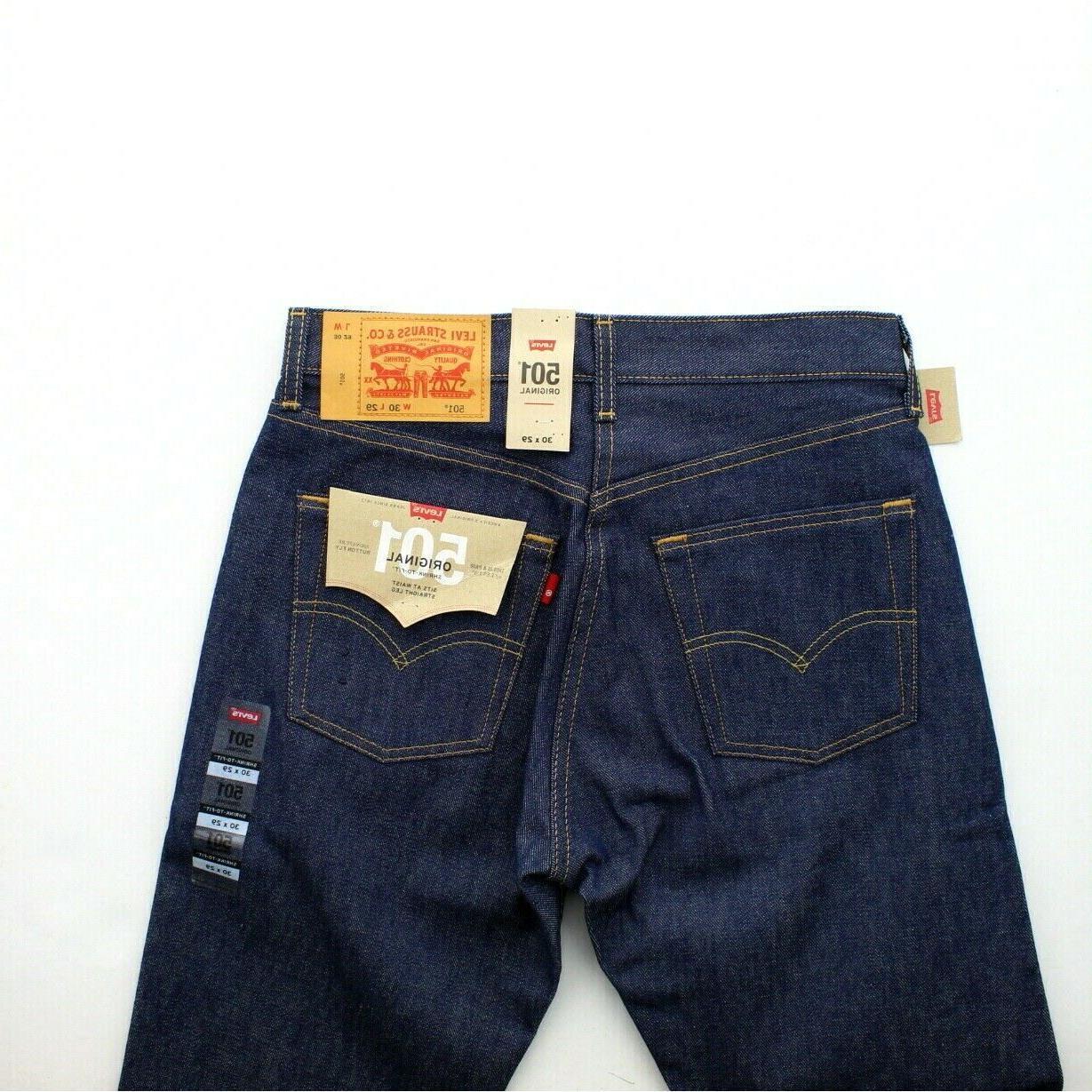 Levi's Jeans Men's Shrink Leg Denim Rigid Indigo, $59