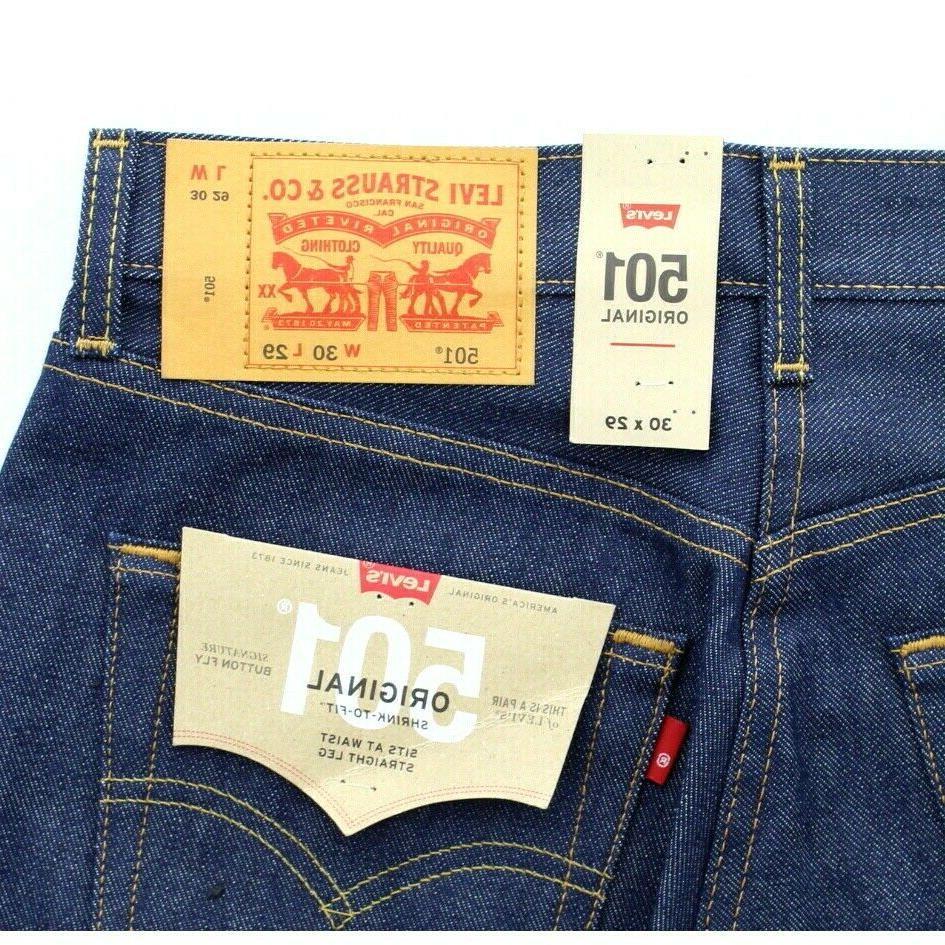 Levi's 501 Shrink To Leg Indigo, $59