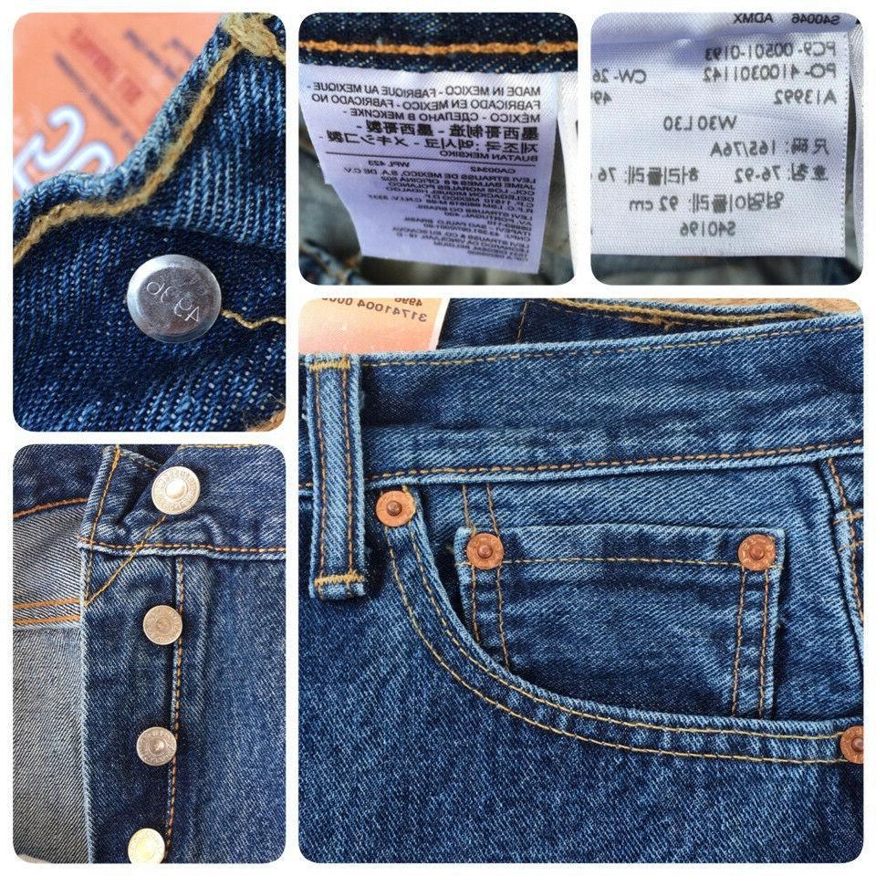 Levi's 501-0193 Original Fit Denim Jeans Stonewash