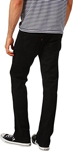 Levi's Men's 514 Straight fit Stretch Jean,  Black, 29x30