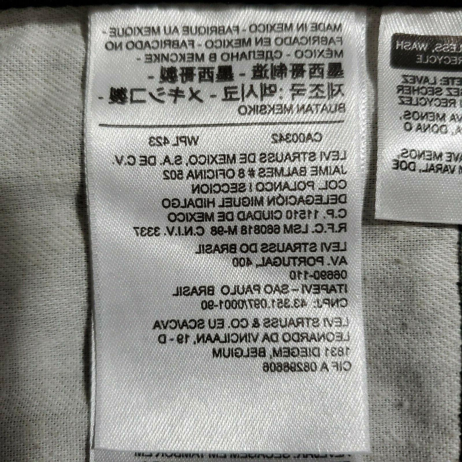 Levi's 36W x 32L 505 Jeans, Black,