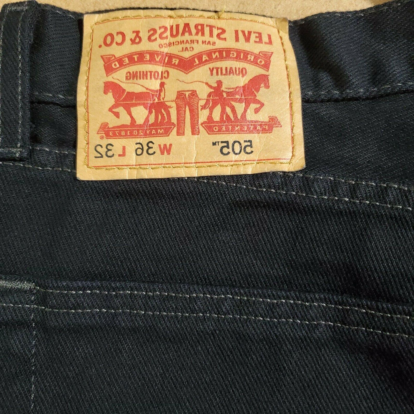 Levi's 36W x 32L Fit Jeans, Black,