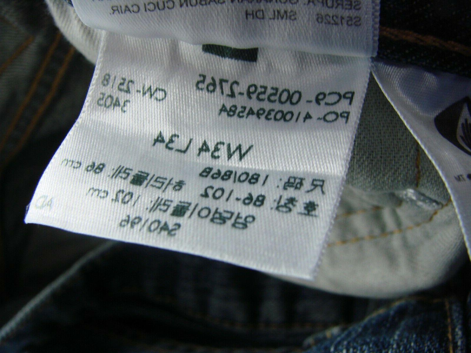 Levi's Straight Fit Jean, 34W x 34L 2765 CW-2518