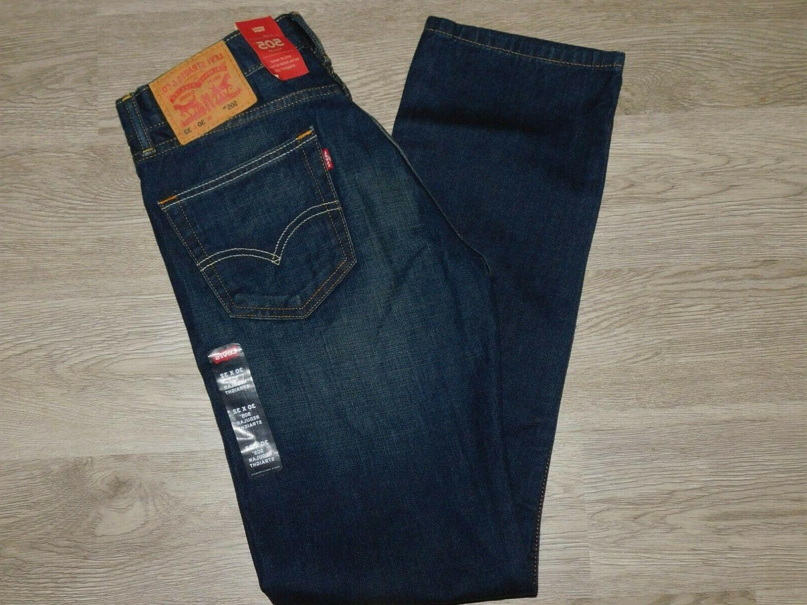levis 505 regular fit jeans stretch straight