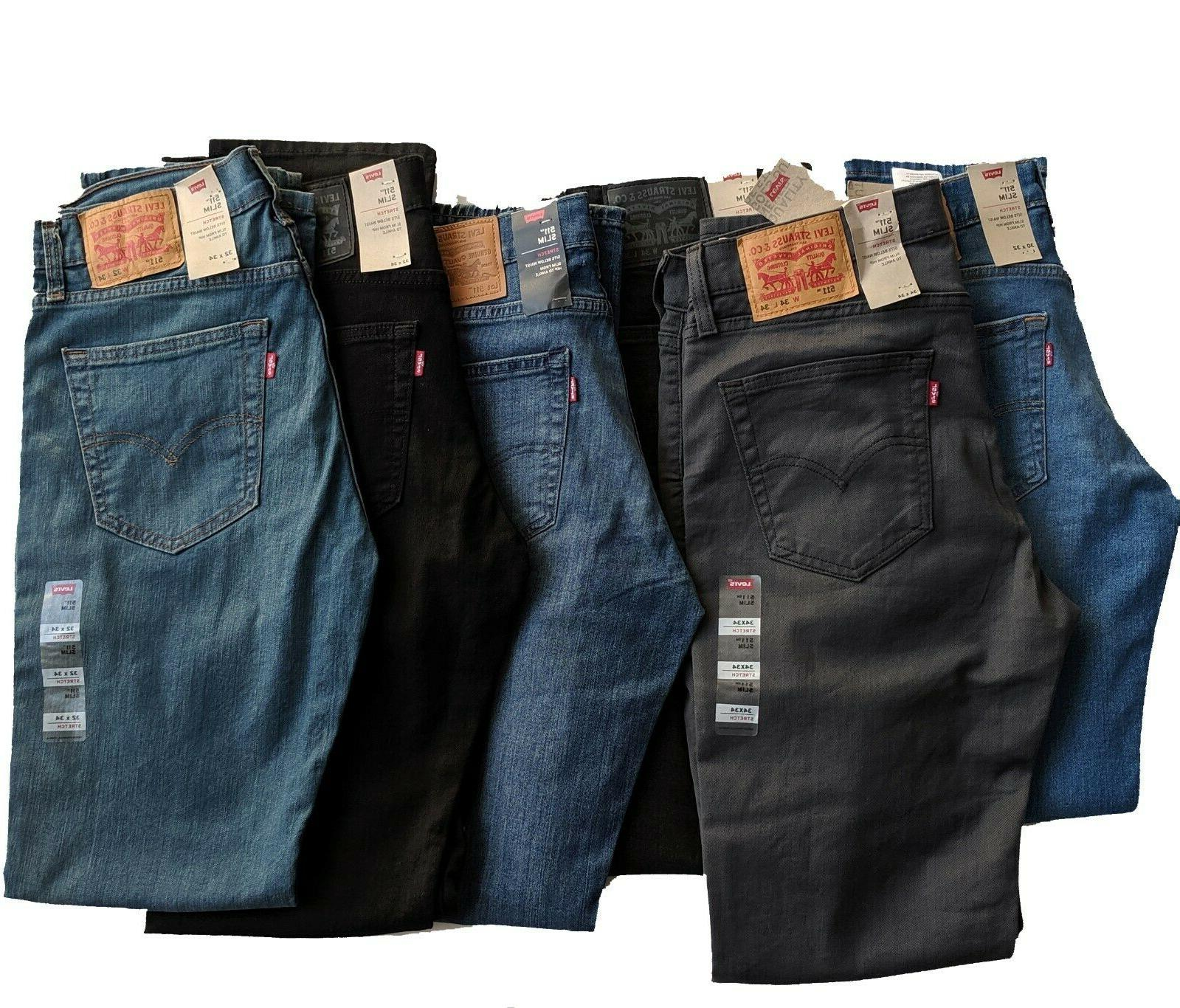 levis 511 slim fit stretch jeans many