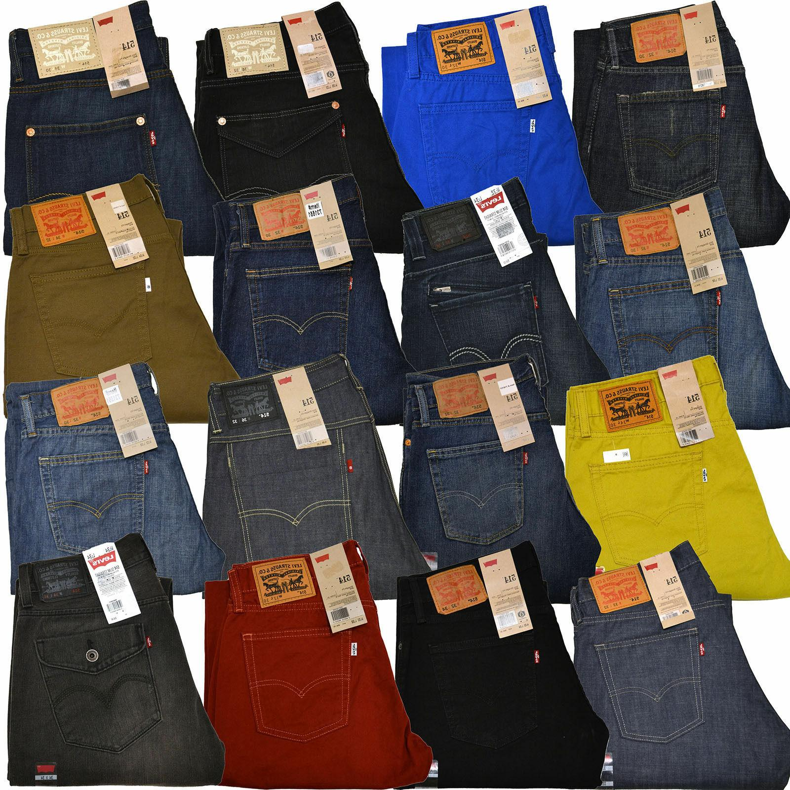 levis 514 jeans slim straight leg mens