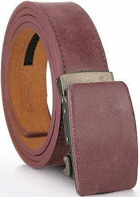 marino ratchet genuine leather belt for men