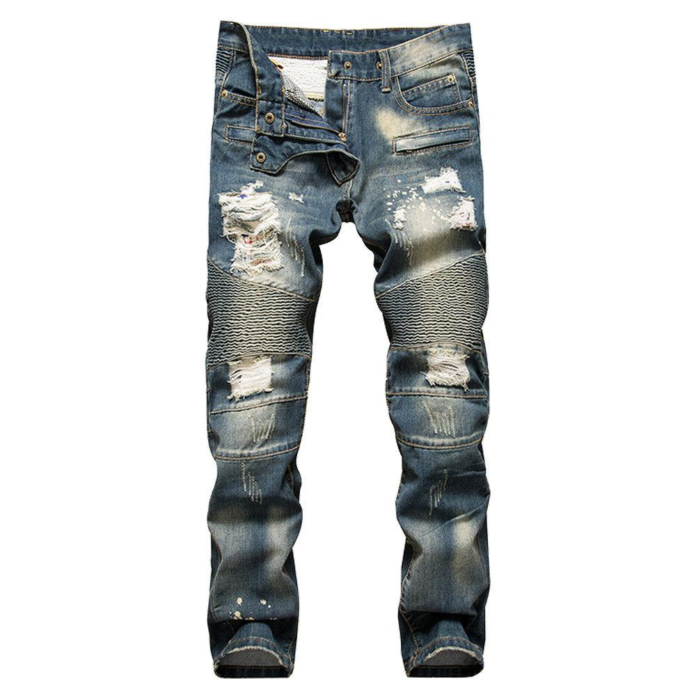 chic style mens skinny biker jeans ripped