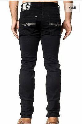 men denim jeans legend atone black buckle