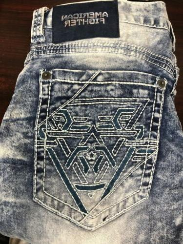 AMERICAN FIGHTER Men Jeans Buckle $125