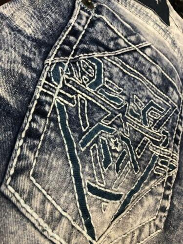 AMERICAN FIGHTER Men Denim Jeans Buckle $125