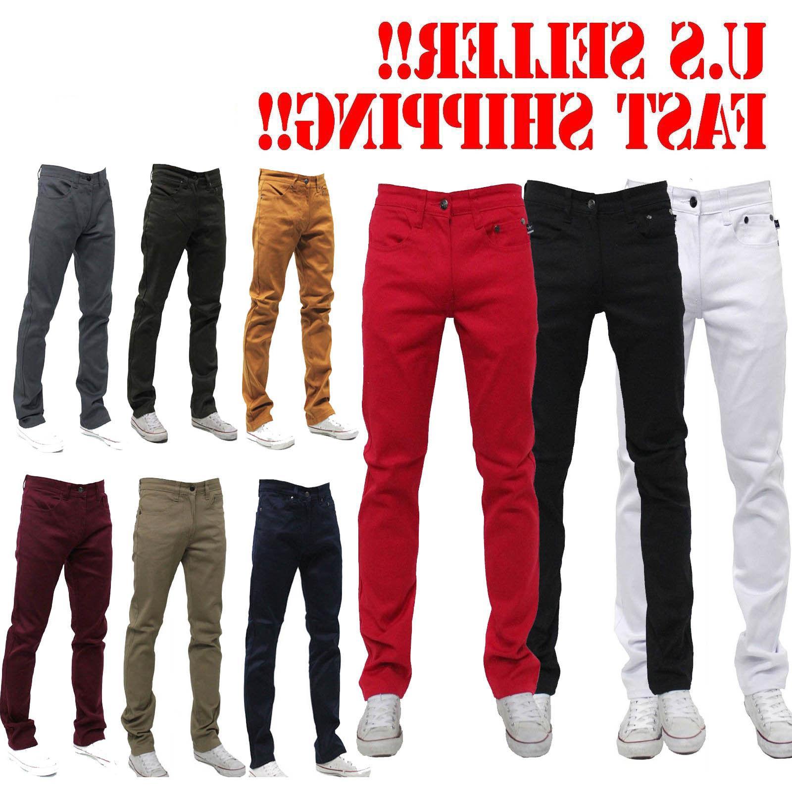 MEN Jeans Slim FIT Casual Pants SKINNY STYLE
