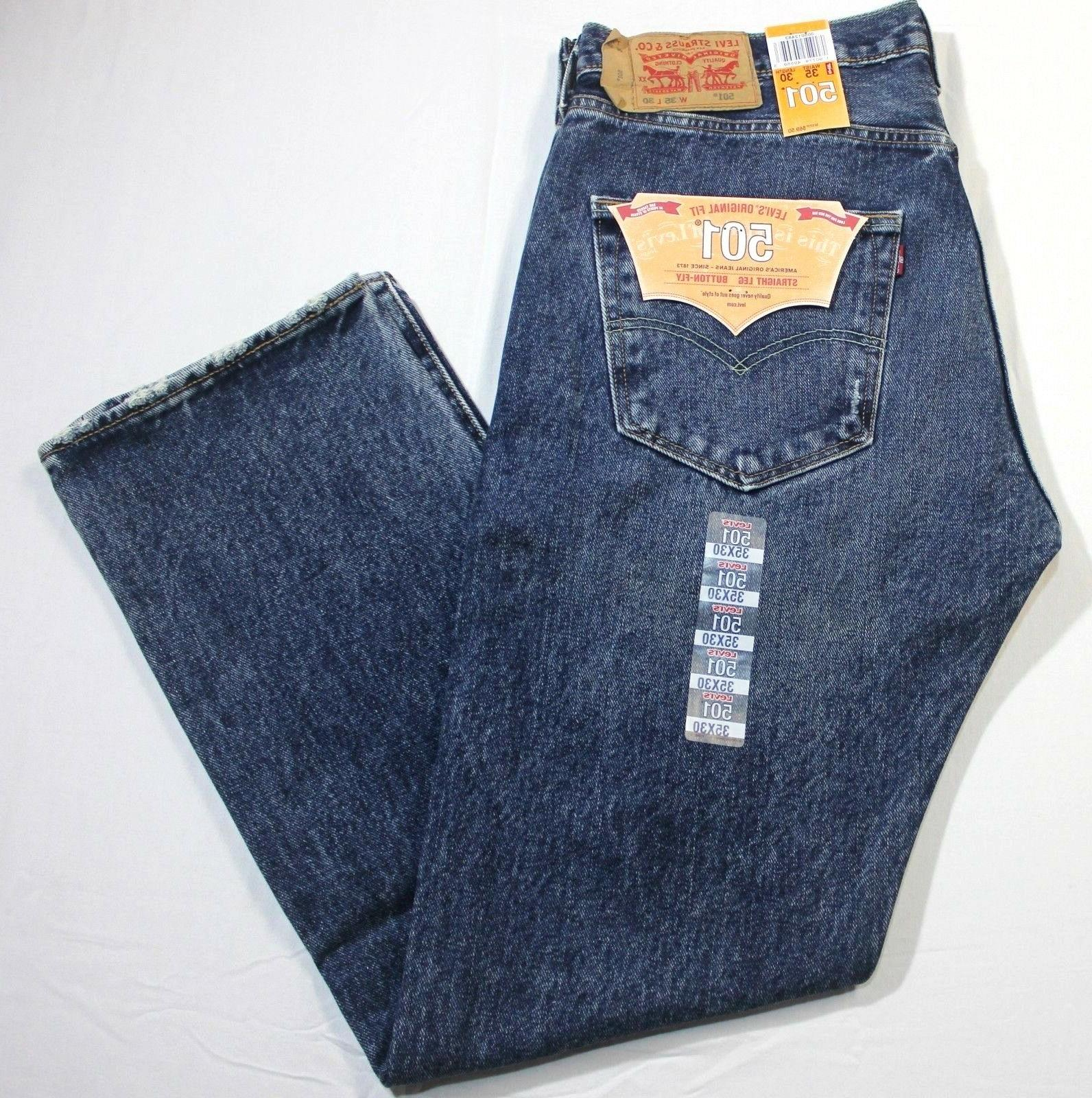 Men Blue Waterless Leg Button Fly XX2483