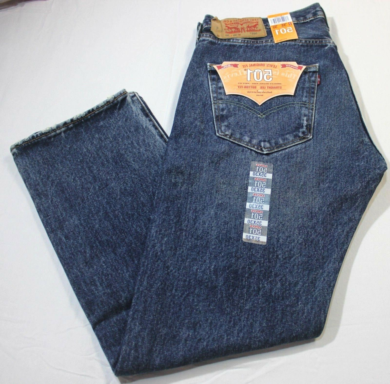 Men Blue Button Jeans XX2483