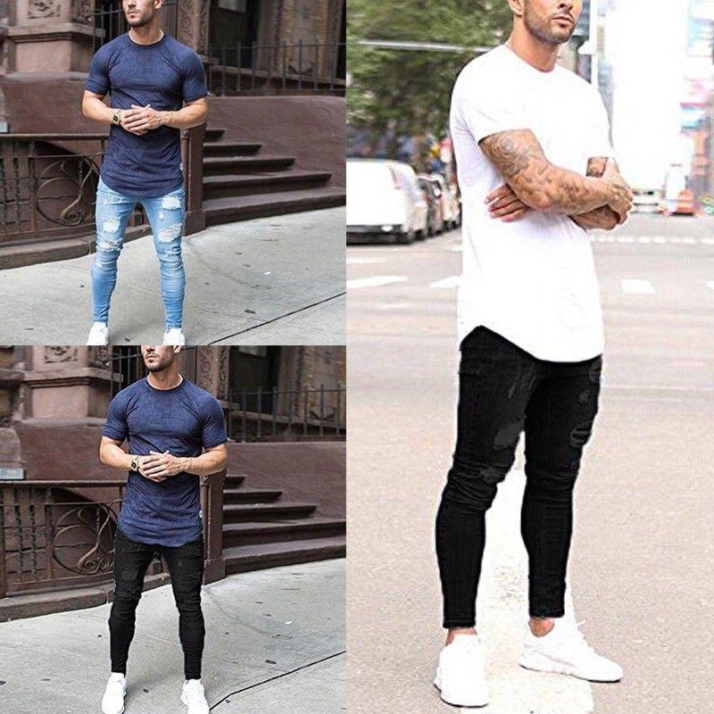 Men Jeans Casual Slim Trousers