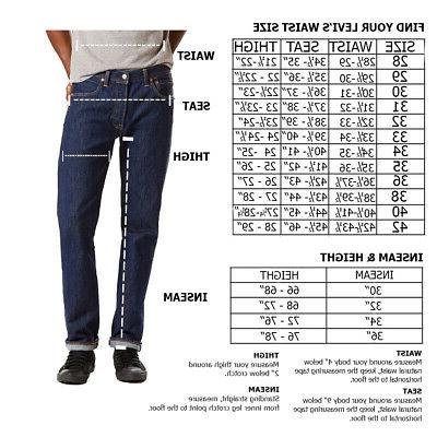 Levis Men's Shrink to Fit Fly Jeans