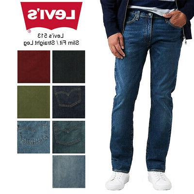 men s 513 slim fit straight jeans