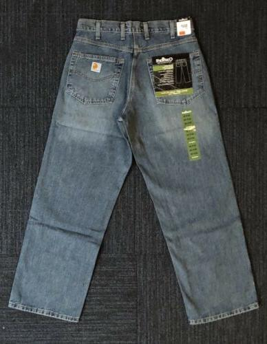 Carhartt Men's B189 Loose Fit Jeans Straight Leg Vintage 32x