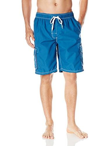 men s barracuda swim trunk denim blue