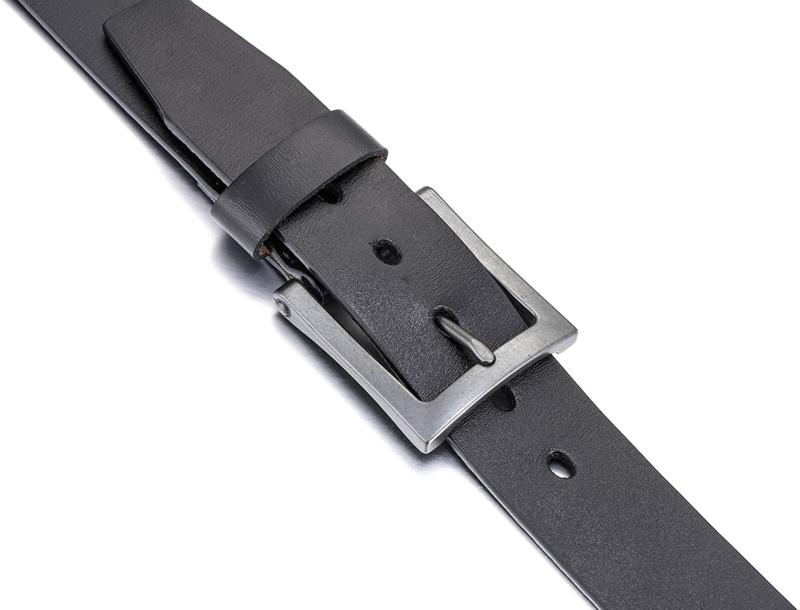 Men's Belt, Leather Casual with Jeans, -