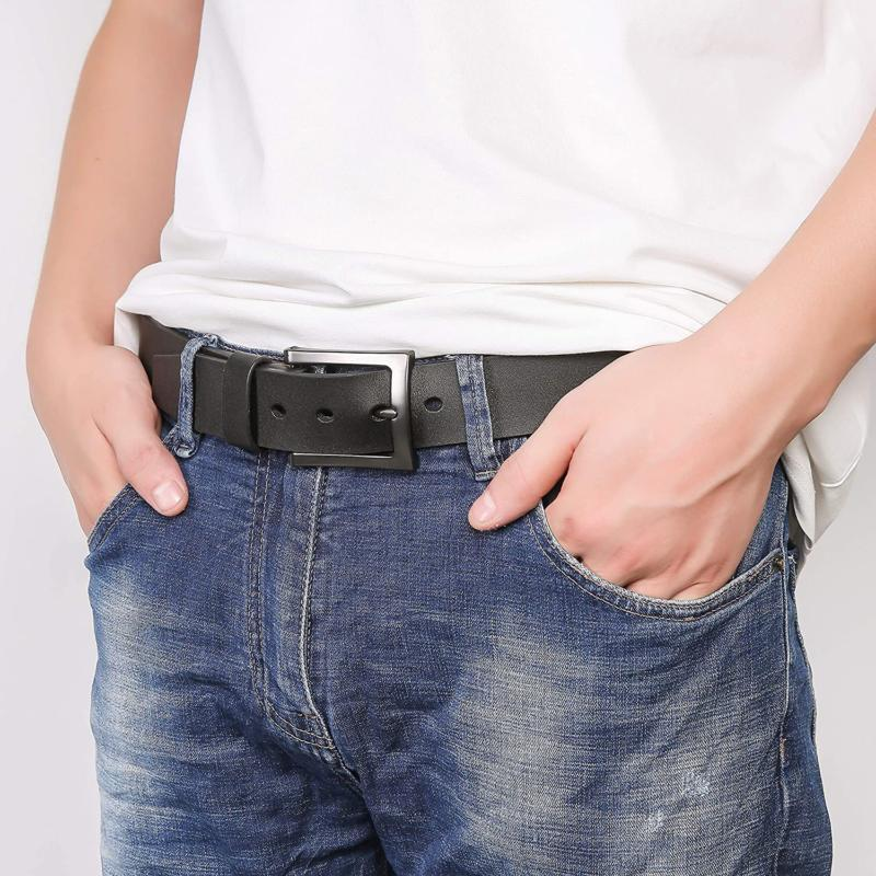Men's Belt, Casual Belt, Looks with Jeans, -